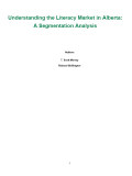 Understanding the Literacy Market in Alberta A Segmentation Analysis